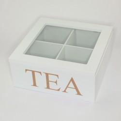 Malá biela krabička na čaj