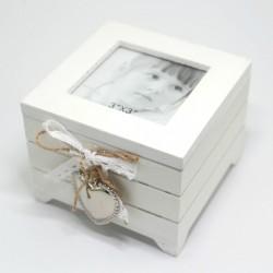 Drevená krabička s fotkou