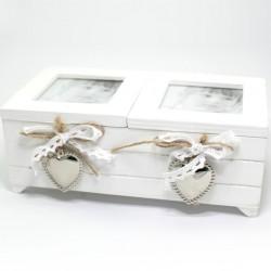 Dvojitá drevená krabička s fotkou
