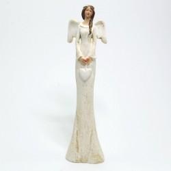 Bledý anjel so srdiečkom