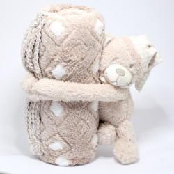 Plyšový medvedík s dekou