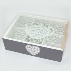 Krabička na čaj so sklom