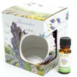 Levanduľová aromalampa s olejčekom